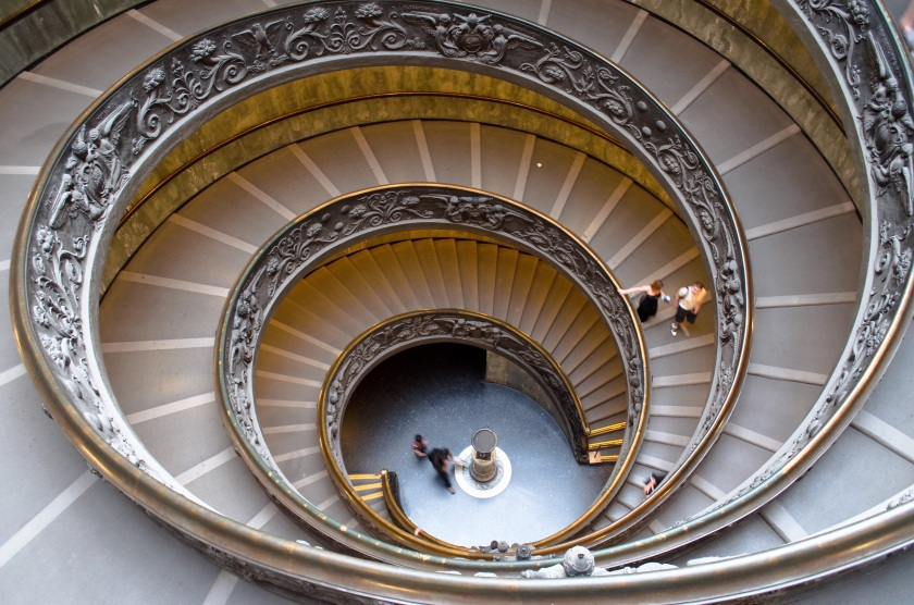 Double spiral staircase robert kent photography for Circular stairway